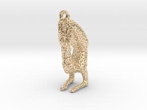 Voronoi yoga jewelry - earring pendant - Vrischika in 14K Yellow Gold