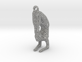 Voronoi yoga jewelry - earring pendant - Vrischika in Aluminum