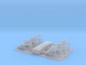 S Scale Casket and Pallbearers in Smooth Fine Detail Plastic