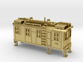 Boxcab Oil Electric Diesel Engine Revised Z scale in Natural Brass