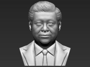 Xi Jinping bust in White Natural Versatile Plastic