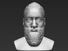 James Harden bust in White Natural Versatile Plastic
