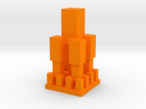 Replitower in Orange Processed Versatile Plastic: 1:8