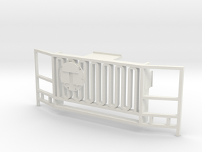 WPL 1/16 Truck Front Grille B in White Natural Versatile Plastic