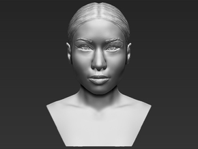 Nicki Minaj bust in White Natural Versatile Plastic
