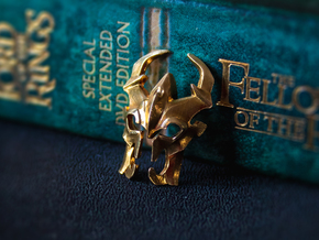 Dota 2 Shadow Fiend Pendant in Polished Brass