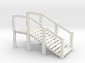 HO Scale Cattle Ramp in White Natural Versatile Plastic