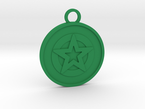 Ace of Pentacles in Green Processed Versatile Plastic