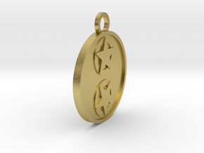 Two of Pentacles in Natural Brass