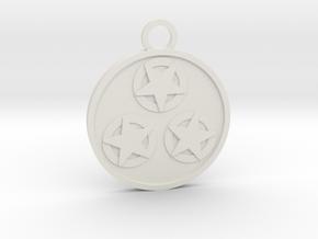 Three of Pentacles in White Natural Versatile Plastic