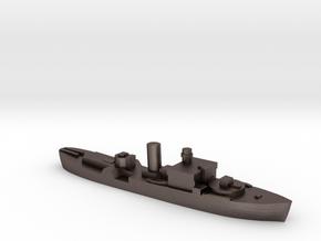 HMS Begonia corvette 1:3000 WW2 in Polished Bronzed-Silver Steel