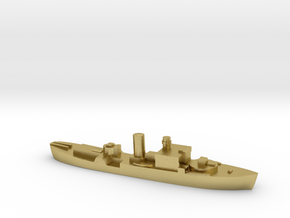 HMS Begonia corvette 1:2400 WW2 in Natural Brass