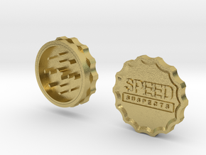 Speed Suspects Herbal Grinder in Natural Brass