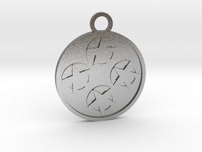Four of Pentacles in Natural Silver
