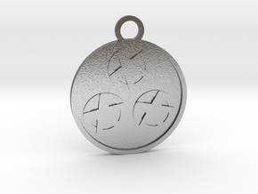 Three of Pentacles in Natural Silver