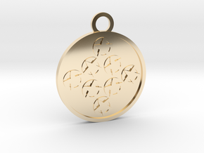 Eight of Pentacles in 14k Gold Plated Brass