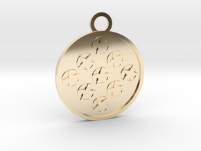 Nine of Pentacles in 14K Yellow Gold