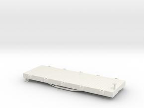 USMRR FLATCAR 5 in White Natural Versatile Plastic