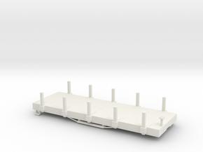 USMRR FLATCAR 5 STAKE in White Natural Versatile Plastic