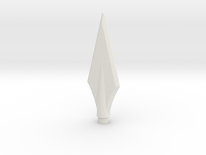 Trident Middle Spear in White Natural Versatile Plastic