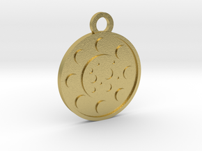 The Moon in Natural Brass