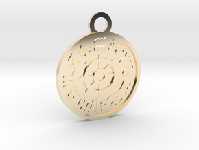 The Wheel of Fortune in 14k Gold Plated Brass
