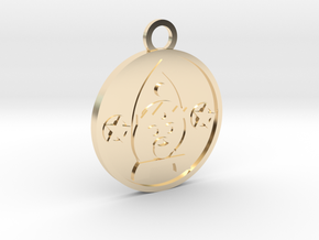 King of Pentacles in 14k Gold Plated Brass