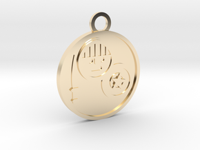 Knight of Pentacles in 14K Yellow Gold