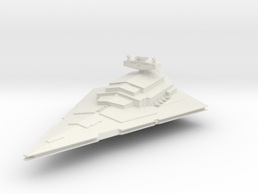 10000 Imperial Star Destroyer Star Wars in White Natural Versatile Plastic