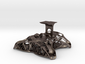 Chassis FPV Drone in Polished Bronzed-Silver Steel