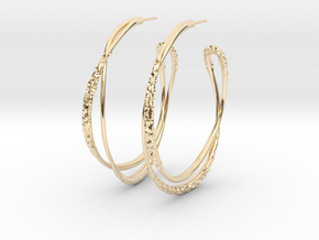 Cosplay Looped Hoop Earrings in 14k Gold Plated Brass