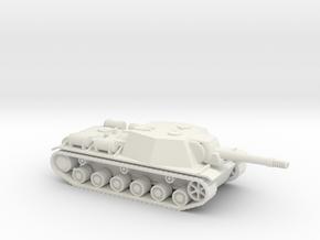 SU-152 1/87 scale Russian Tank Destroyer in White Natural Versatile Plastic