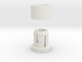 Snap Shaft in White Natural Versatile Plastic