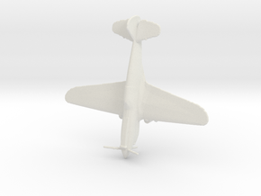 1:220 P-40 Warhawk in White Natural Versatile Plastic