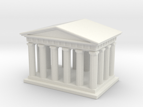 Mini Greek Temple in White Natural Versatile Plastic