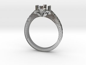 Cut Out Ring With Designs in Natural Silver