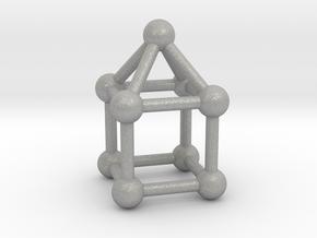 0742 J08 Elongated Square Pyramid V&E (a=1cm) #3 in Aluminum