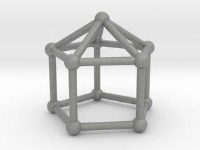 0744 J09 Elongated Pentagonal Pyramid (a=1cm) #2 in Gray PA12