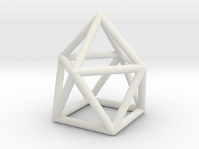 0746 J10 Gyroelongated Square Pyramid (a=1cm) #1 in White Natural Versatile Plastic