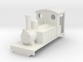 Freelance style bagnall steam locomotive (OO9) in White Natural Versatile Plastic