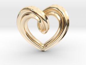Heart Pendant Type A in 14K Yellow Gold: Small