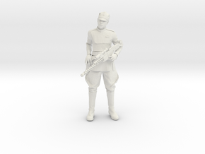Clone Officer with Rifle in White Natural Versatile Plastic