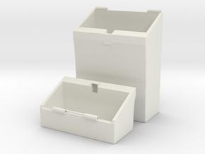 cigarette case in White Natural Versatile Plastic: Medium