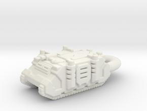 Rhino Tank Pendant necklace space marine in White Natural Versatile Plastic