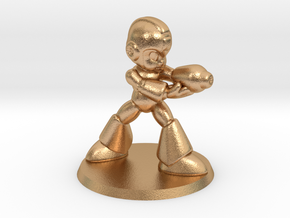 Megaman 1/60 miniature for games and rpg scifi in Natural Bronze