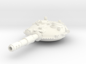 28mm T-72 style turret in White Processed Versatile Plastic