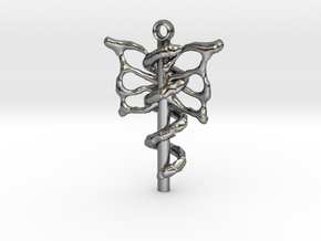 caduceus in Polished Silver