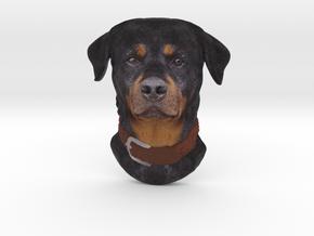 Reliëf / Rottweiler / 180mm / art.#MK008 in Natural Full Color Sandstone