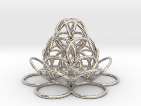 sourceflowerwaterpendant in Rhodium Plated Brass