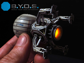 BYOS SHIP 3 in Smooth Fine Detail Plastic